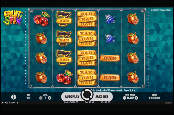 Fruit Spin Machine à Sous Gratuit (40 Lignes) Microgaming