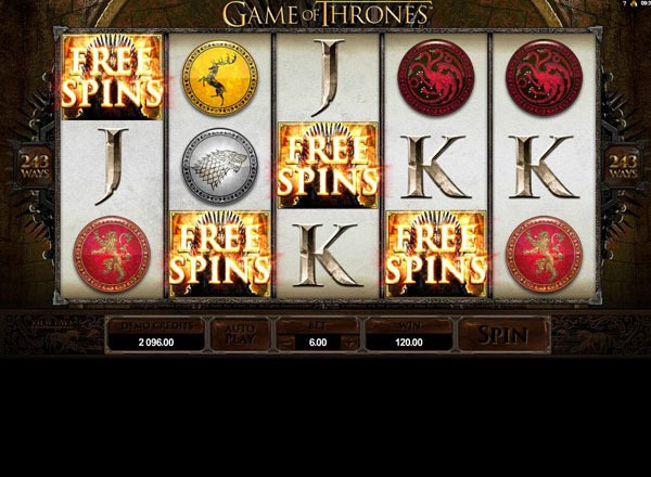 Game of Thrones Machine a Sous Gratuit (243 Lignes) Microgaming