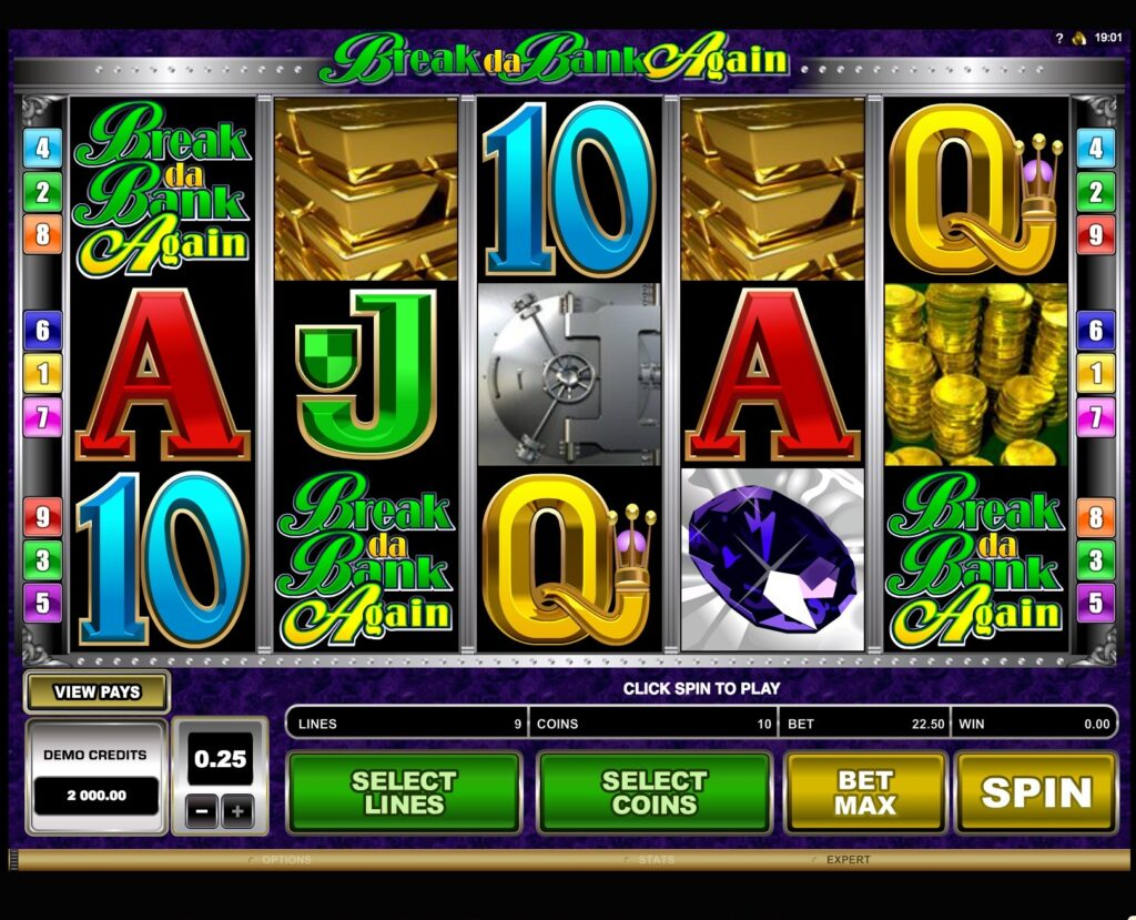 Break da Bank Again Machine à Sous Gratuit (9 Lignes) Microgaming