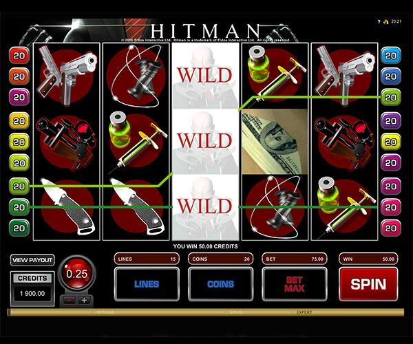 Hitman Machine à Sous Gratuit (15 Lignes) Microgaming