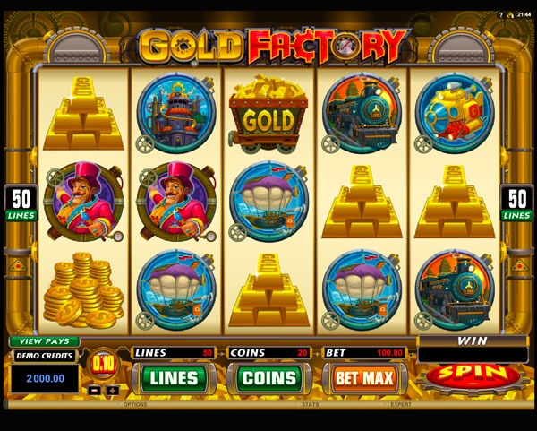 Gold Factory Machine à Sous Gratuit (50 Lignes) Microgaming