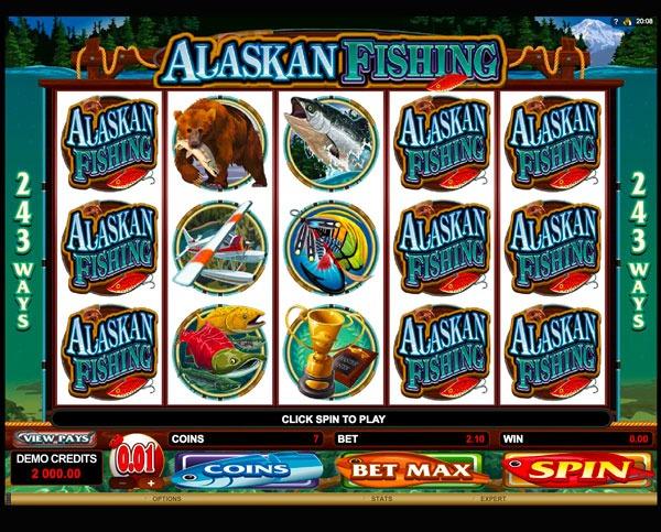 Alaskan Fishing Machine à Sous Gratuit (243 Lignes) Microgaming