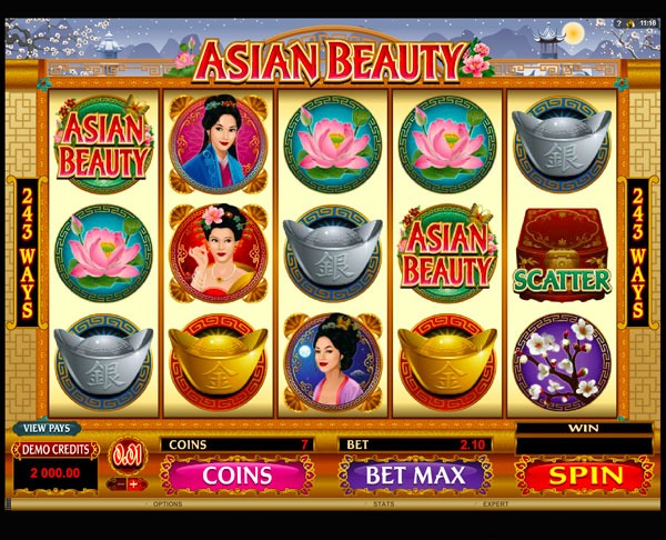 Asian Beauty Machine à Sous Gratuit (243 Lignes) Microgaming