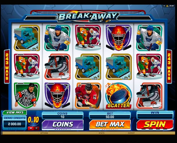 Break Away Machine à Sous Gratuit (243 Lignes) Microgaming