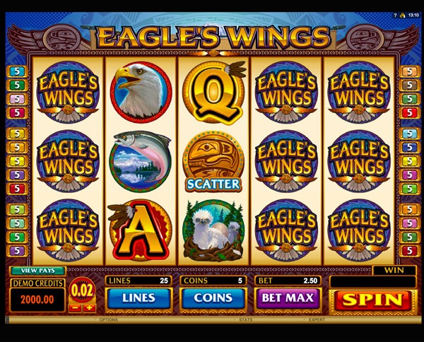 Eagles Wings Machine à Sous Gratuit (25 Lignes) Microgaming