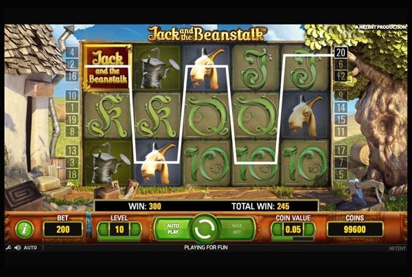 Jack and Beanstalk Machine à Sous Gratuit (20 Lignes) Netent