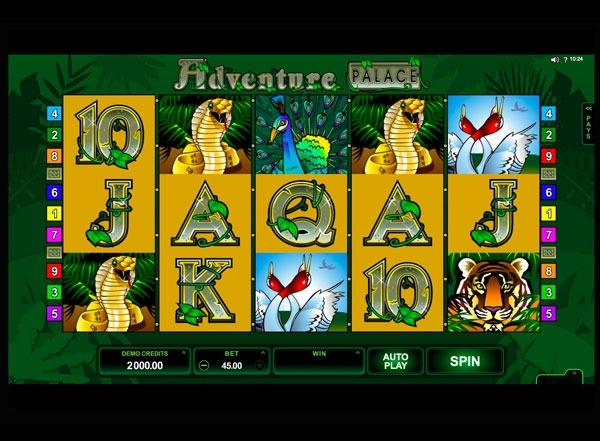 Adventure Palace Machine à Sous Gratuit (9 Lignes) Microgaming
