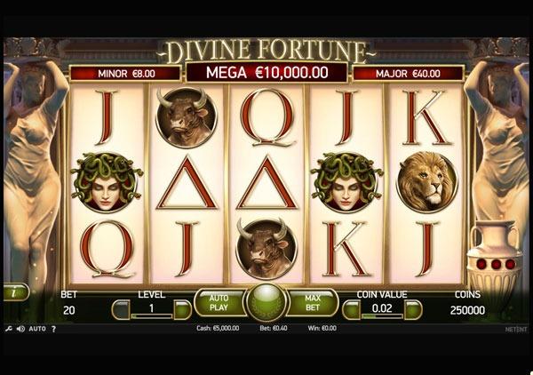 Divine Fortune Machine à Sous Gratuit (20 Lignes) Netent