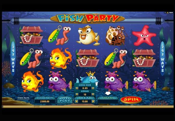 Fish Party Machine à Sous Gratuit (243 Lignes) Microgaming