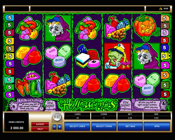 Halloweenies Machine a Sous Gratuit (20 Lignes Slot) Microgaming