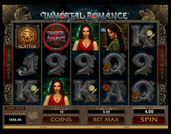 Immortal Romance Machine à Sous Gratuit (243 Lignes) Microgaming