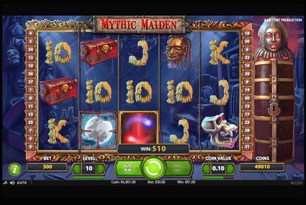 Mythic Maiden Machine à Sous Gratuit (30 Lignes) Netent