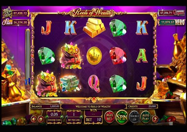 Reels of Wealth Machine à Sous Gratuit (10 Lignes) Betsoft