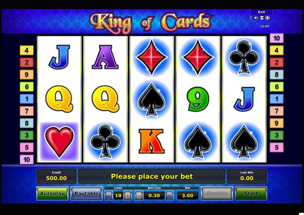 King of Cards Machine à Sous Gratuit (10 Lignes) Novomatic