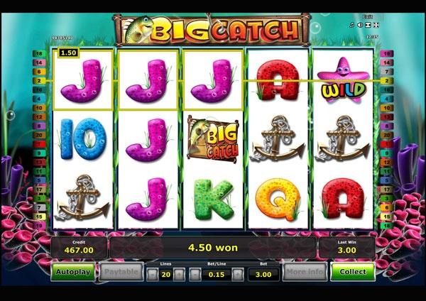 Big Catch Machine à Sous Gratuit (20 Lignes) Novomatic