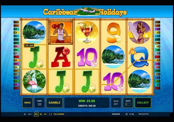 Caribbean Holidays Machine à Sous Gratuit (20 Lignes) Novomatic