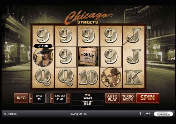 Chicago Streets Machine à Sous Gratuit (25 Lignes) Playtech