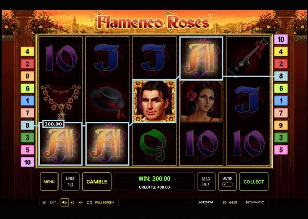 Flamenco Roses Machine à Sous Gratuit (10 Lignes) Novomatic