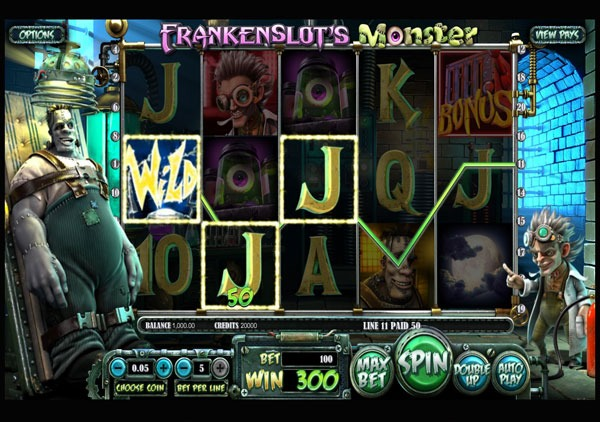 Frankenslots Monster Machine à Sous Gratuit (20 Lignes) Betsoft