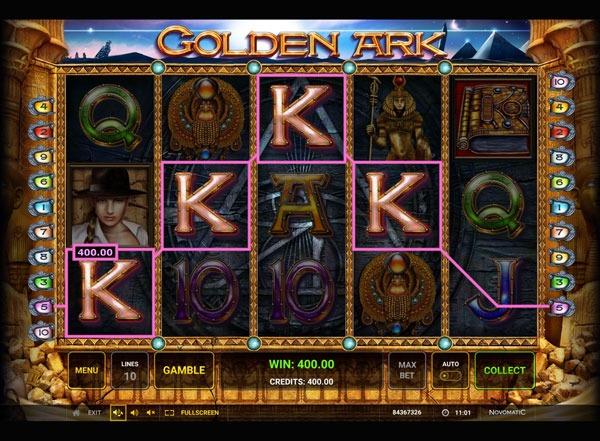 Golden Ark Machine à Sous Gratuit (10 Lignes) Novomatic