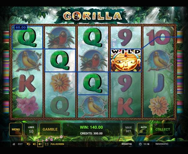 Gorilla Machine à Sous Gratuit (50 Lignes) Novomatic