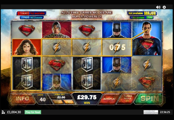 Justice League Machine à Sous Gratuit (40 Lignes) Playtech