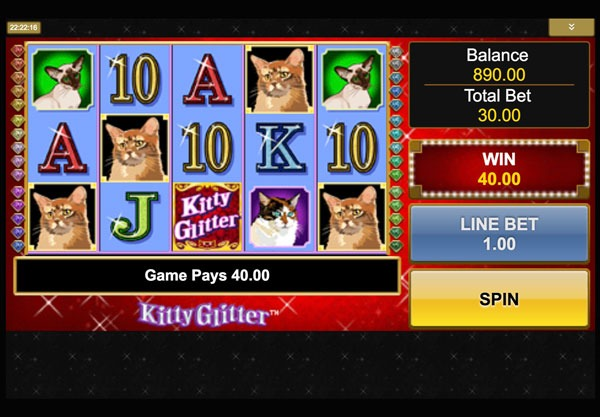 Kitty Glitter Machine à Sous Gratuit (30 Lignes) IGT Sans Inscription
