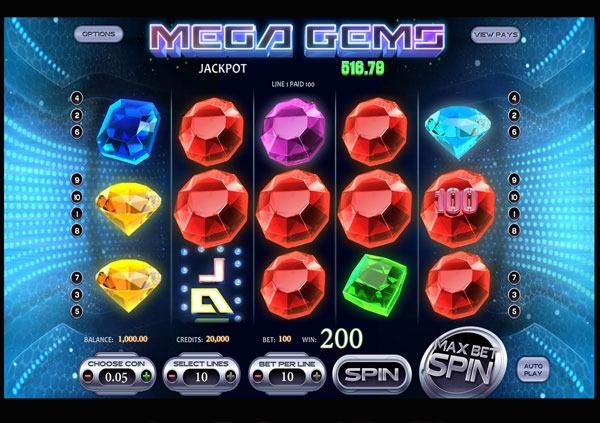 Mega Gems Machine à Sous Gratuit (10 Lignes) Betsoft