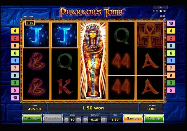 Pharaohs Tomb Machine à Sous Gratuit (10 Lignes) Novomatic