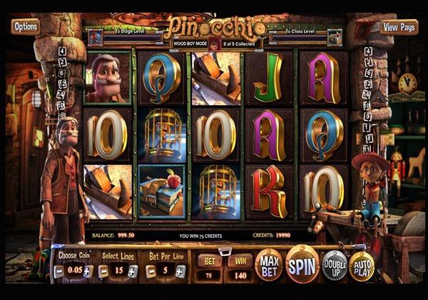 Pinocchio Machine à Sous Gratuit (15 Lignes) Betsoft