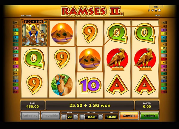 Ramses 2 Machine à Sous Gratuit (20 Lignes) Novomatic