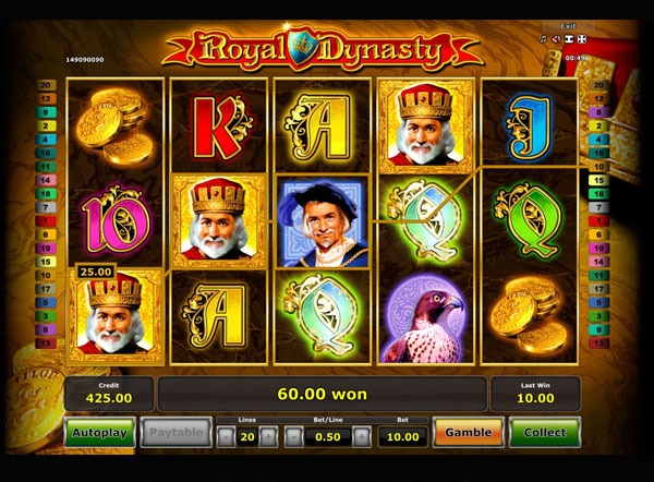 Royal Dynasty Machine à Sous Gratuit (20 Lignes) Novomatic
