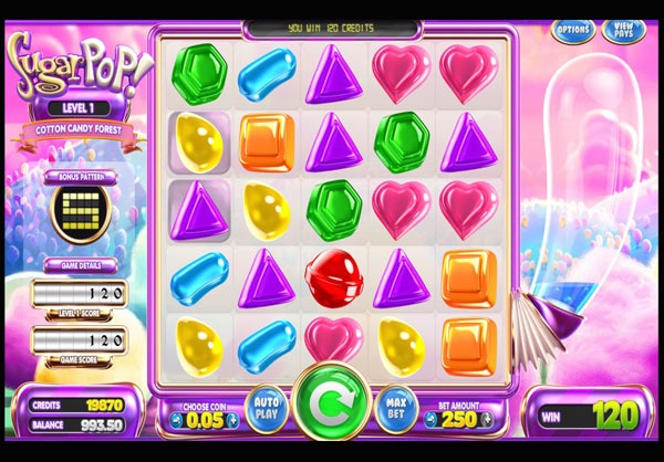 Sugar Pop Machine à Sous Gratuit (3D Slot) Betsoft