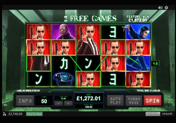 The Matrix Machine à Sous Gratuit (50 Lignes) Playtech Sans Inscription