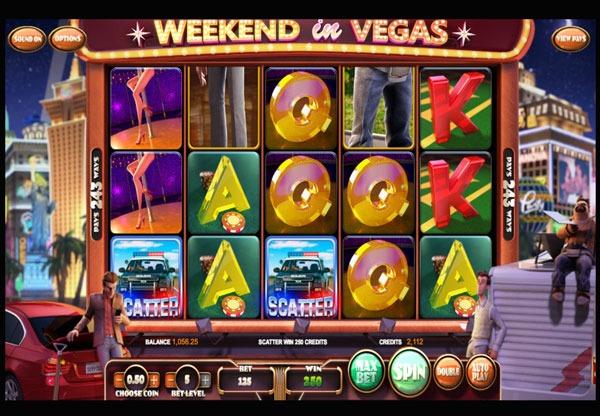 Weekend in Vegas Machine à Sous Gratuit (20 Lignes) Betsoft