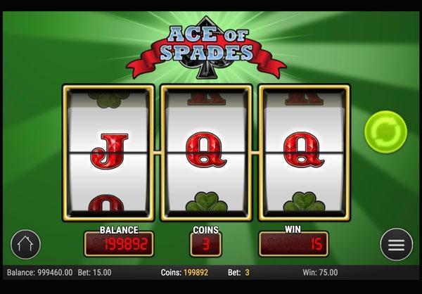 Ace of Spades Machine à Sous Gratuit (3 Rouleaux) Play`n GO