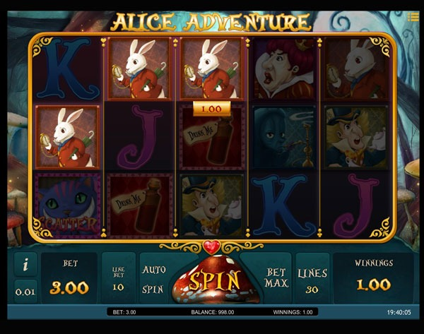 Alice Adventure Machine à Sous Gratuit (30 Lignes) Isoftbet
