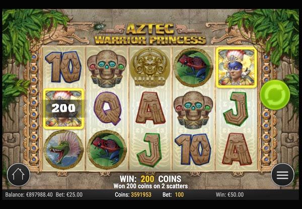 Aztec Warrior Princess Machine à Sous Gratuit (20 Lignes) Play`n GO