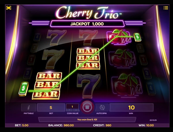 Cherry Trio Machine à Sous Gratuit (5 Lignes) Isoftbet Sans Inscription