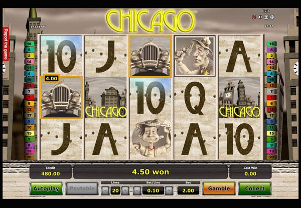 Chicago Machine à Sous Gratuit (20 Lignes) Novomatic Sans Inscription