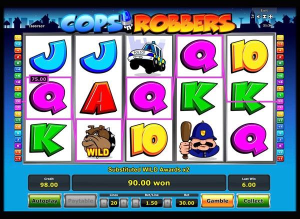 Cops n Robbers Machine à Sous Gratuit (20 Lignes) Novomatic
