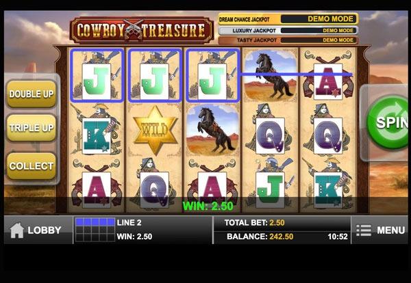 Cowboy Treasure Machine à Sous Gratuit (5 Lignes) Play`n GO