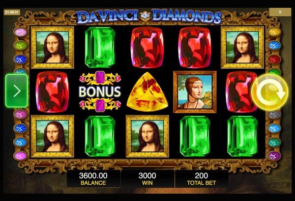 Da Vinci Diamonds Machine à Sous Gratuit (20 Lignes) IGT