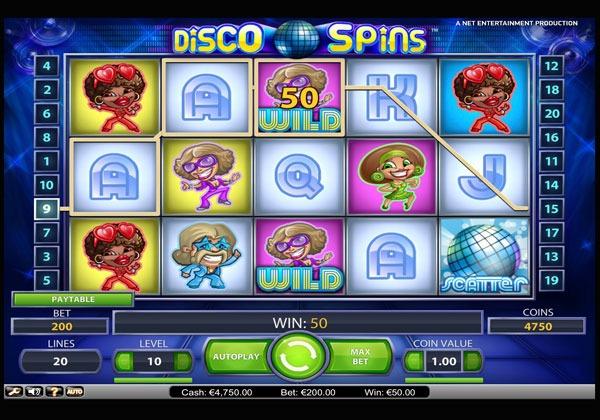 Disco Spins Machine à Sous Gratuit (20 Lignes) Netent Sans Inscription