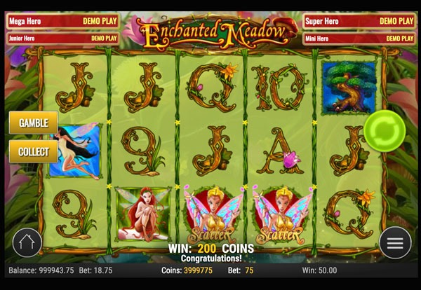 Enchanted Meadow Machine à Sous Gratuit (15 Lignes) Play`n GO