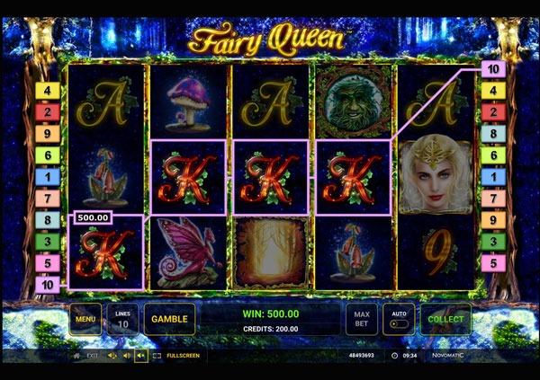 Fairy Queen Machine à Sous Gratuit (10 Lignes) Novomatic