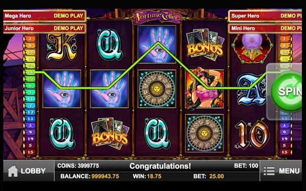Fortune Teller Machine à Sous Gratuit (20 Lignes) Play`n GO