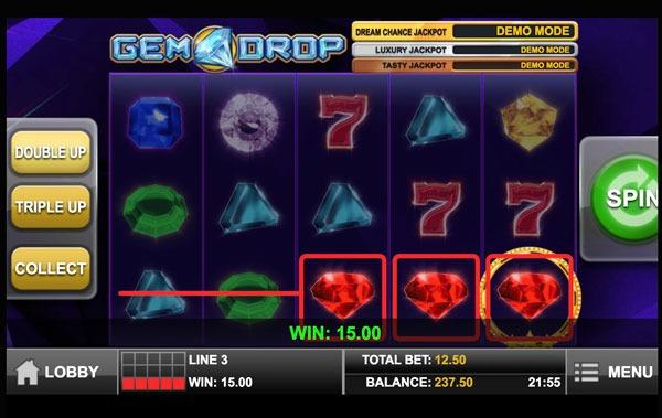 Gem Drop Machine à Sous Gratuit (10 Lignes) Play`n GO