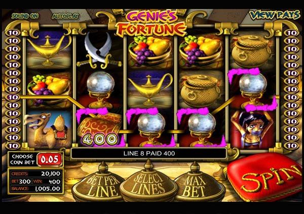 Genies Fortune Machine à Sous Gratuit (30 Lignes) Betsoft