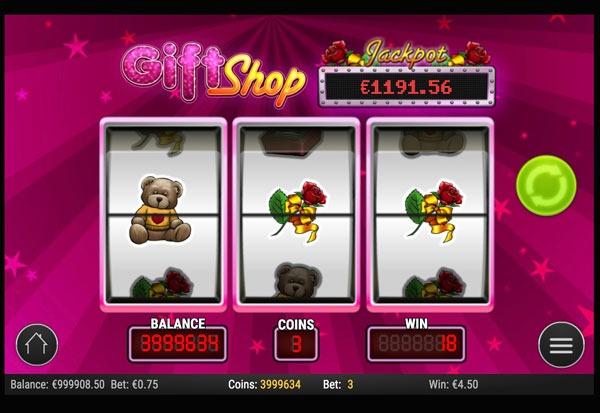 Gift Shop Machine à Sous Gratuit (3 Rouleaux) Play`n GO